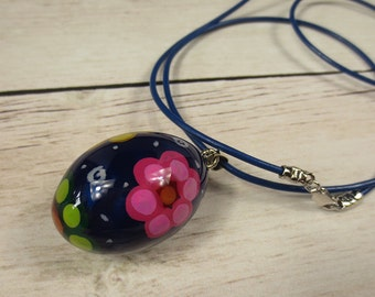 Egg Harmony Ball/Hand Painted Harmony Ball/Mexican Bola Ball/Music Chime Necklace/Pregnancy Necklace/Bola de grossesse/Bola Necklace/New Mom