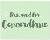 RESERVED FOR CONCORDLANE