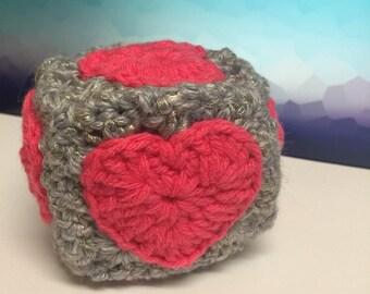 Crochet Portal Companion Cube