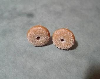 Miniature Donut Earrings, Polymer Clay Earrings