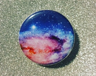 Galaxy button / Space button / Galaxy magnet / Astronomy button / Galaxy pin / Planet button
