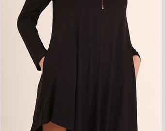 Dress summer SHOULDER DRESS/Dresses loose/light black Dress/Casual/Summer Dresses
