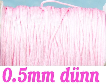 10m macrame belt 0.5, pink #4095