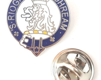 Scotland Macgregor Family Clan Name Enamel Lapel Pin Badge