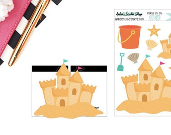 Sand Castle Sticker for any Planner