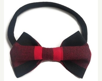 Buffalo plaid bow,buffalo plaid baby,buffalo plaid fabric,nylon headband,buffalo plaid headband,buffalo plaid bows,baby shower gift