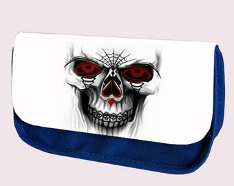 SKULL and TEETH Pencil case / Make up bag
