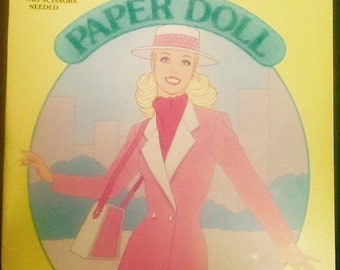 Day to Night Barbie  Vintage Paper Doll 1985 Uncut Golden Book