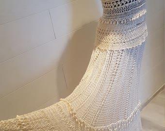 Beautiful crochet lace dress suit. Maxi suit.