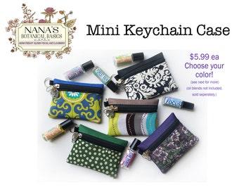 Nana's Aromatherapy Essential Oil Mini Keychain Roller Bottle Case