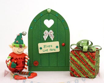 Elf Door, Christmas Elf Door, Santa's Elf, Elf decor, Christmas Elf, Elf, Santa's little helper