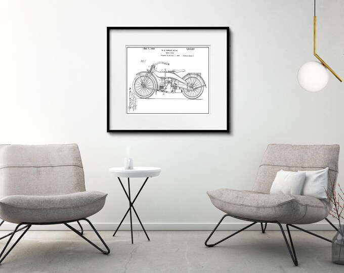 Biker Wall Art Matted and Framed or Just Matted and Ready for Your Frame