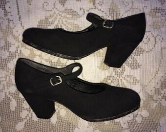 Vintage 40s Flamenco Dance Shoes