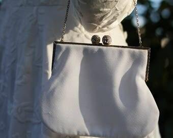 Handbag vintage 50s cloth purse