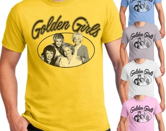The Golden Girls T-shirt 80s Comedy Show Unisex Men's T-shirts and Ladies Jr Slim-Fit shirts