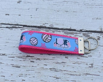 Volleyball keychain - volleyball gifts - volleyball mom  - volleyball coach - volleyball lovers gift - key fob - keychain - volleyball
