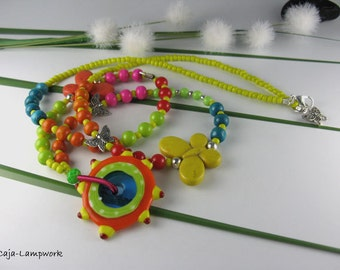 Long, bright colorful Butterfly chain