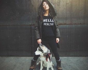 Hella Healthy Slouchy Crew | Hella Healthy | Plant Based Apparel | Veggie Centric | Kale | I Stay Woke |