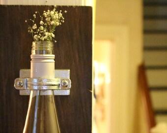 Wine Bottle Vase // Hanging Wine Bottle // Hanging Flower Vase // Wine Bottle Decoration // Wine Wedding Gift // Unique Wedding Vase // Wine