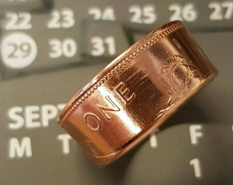1967 Coin Ring - One Penny Coin Ring - 50 Years
