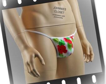 Large Red Flower Pouch G string - Mens Underwear