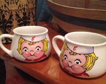 Vintage campbell soup kid mugs