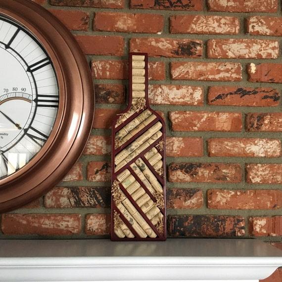 Wine Cork Art: Wine Corks / Metal Wine Themed Bottle Cork Display Wall Art