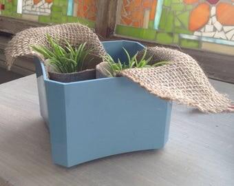 Planter blue plastic