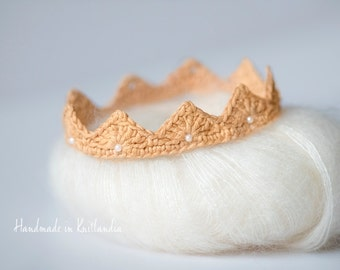 Crochet Crown, Newborn Photography Prop