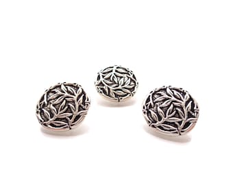 "3 - TierraCast Bamboo Metal Buttons with Shank  5/8""  (16mm)"