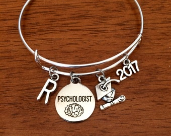 Psychologist graduation gift, psychology graduate bracelet, psychologist jewellery, 2017 college graduate jewelry, psychology gift