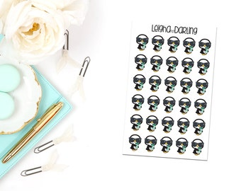 Coffee & Glam Penguin Planner Stickers