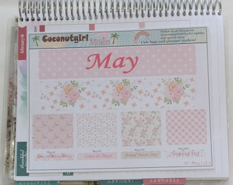 May planner kit 3 sheets