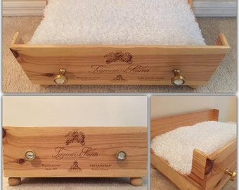 pet bed, dog bed, wine crate, cat bed, wood dog beds, wooden dog bed, wood cat ped, wooden cat bed, wine lover