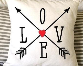 Valentine Pillow, Heart Pillow, Love Pillow, Decorative Pillow, Wedding Pillow, Nursery Pillow, Fiance Pillow, Anniversary Pillow