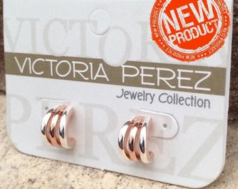 Geometric Stud Earrings  |  Victoria Perez Collection