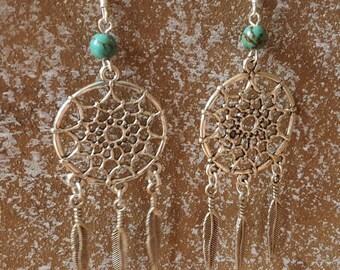 Earrings turquoise 925 Silver earrings turquoise earrings chandelier