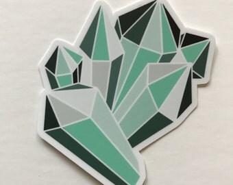 SALE Fluorite Crystal Vinyl Sticker