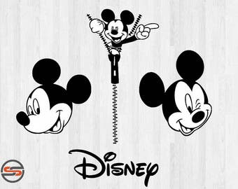 Mickey Mouse SVG, Disney SVG files, Instant Download, Silhouette, cricut download. Digital