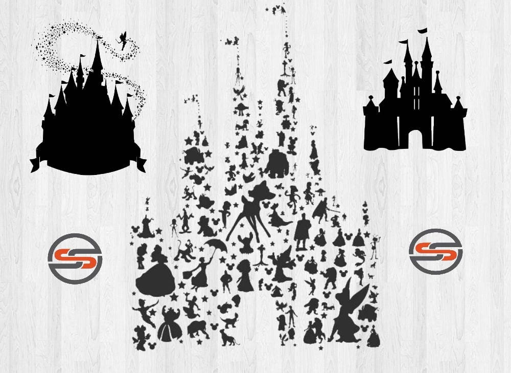 Disney Castle Svg Tinkerbell Svg Mickey Mouse