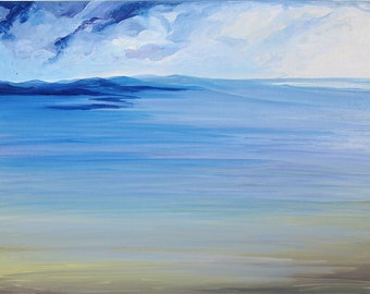 Bright original Painting Sea Painting Oil painting seascape