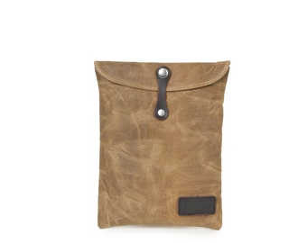 Leather Canvas Ipad Case