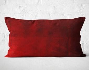 Red Velvet Lumbar Pillow   Boho Lumbar Pillow   Luxury Velvet Pillow   Red Velvet Lumbar Cushion