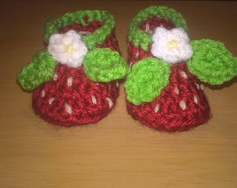 Baby Girl Strawberry Shoes