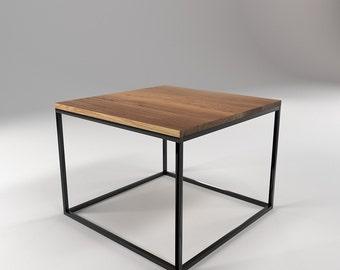 roomify side table KUBE 55x55cm - LOFT minimal design industrial