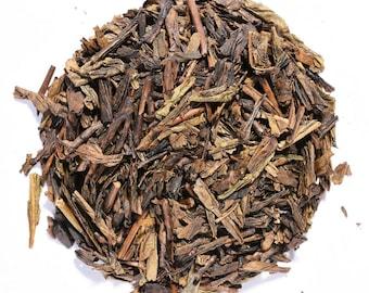 HOUJICHA | Green Tea | Organic | Roasted | Loose Leaf | Tea Bags | Tea Tin | Iced Tea | Eco-Friendly