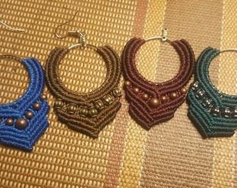 boho inspired chandalier earrings