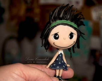 Miniature figurine: Polymer clay dolls, Ooak doll, Miniature art doll, Doll, Custom dolls, polymer clay, ooak