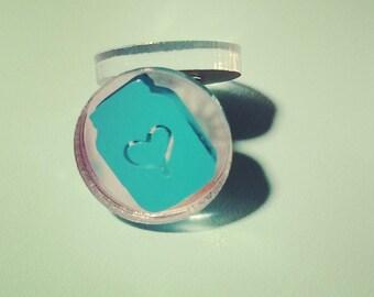 Mason jar acrylic circle earrings