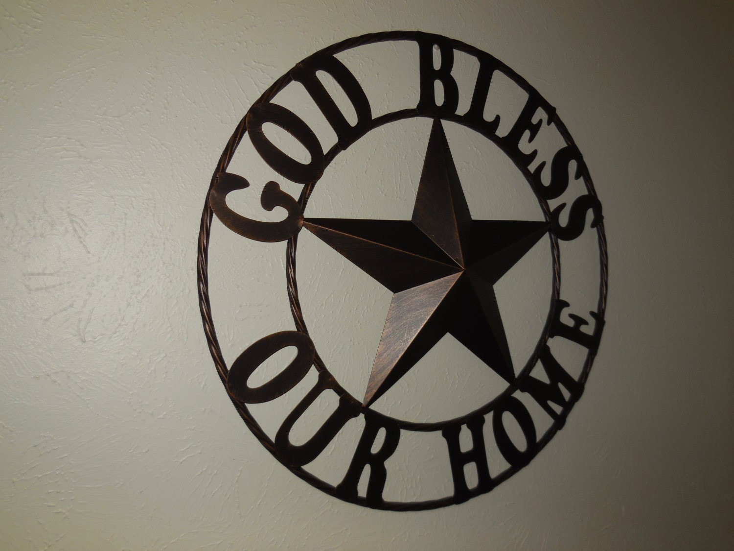 Star Wall Decor Ideas: 24 GOD BLESS OUR Home Barn Metal Star Wall Art Home